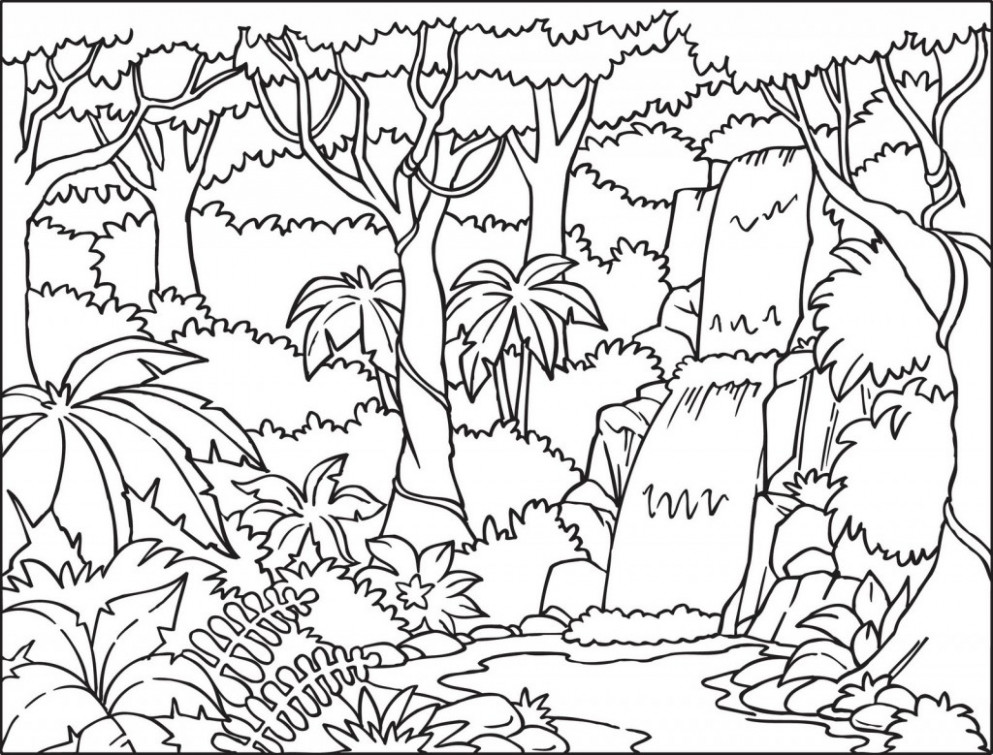 Forest clipart black and white sketch. Drawing at paintingvalley com