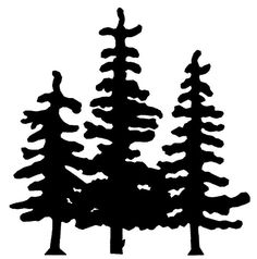 Black And White Forest Clipart
