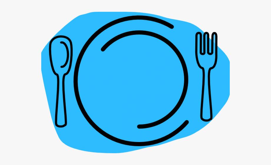 Dinner Plate Clipart Blue Plate