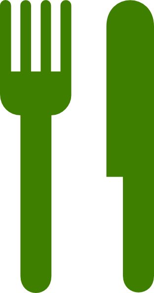 Green knife and fork clip art at vector clip art