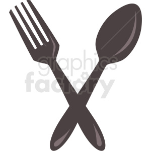 Fork and spoon icon clipart with no background