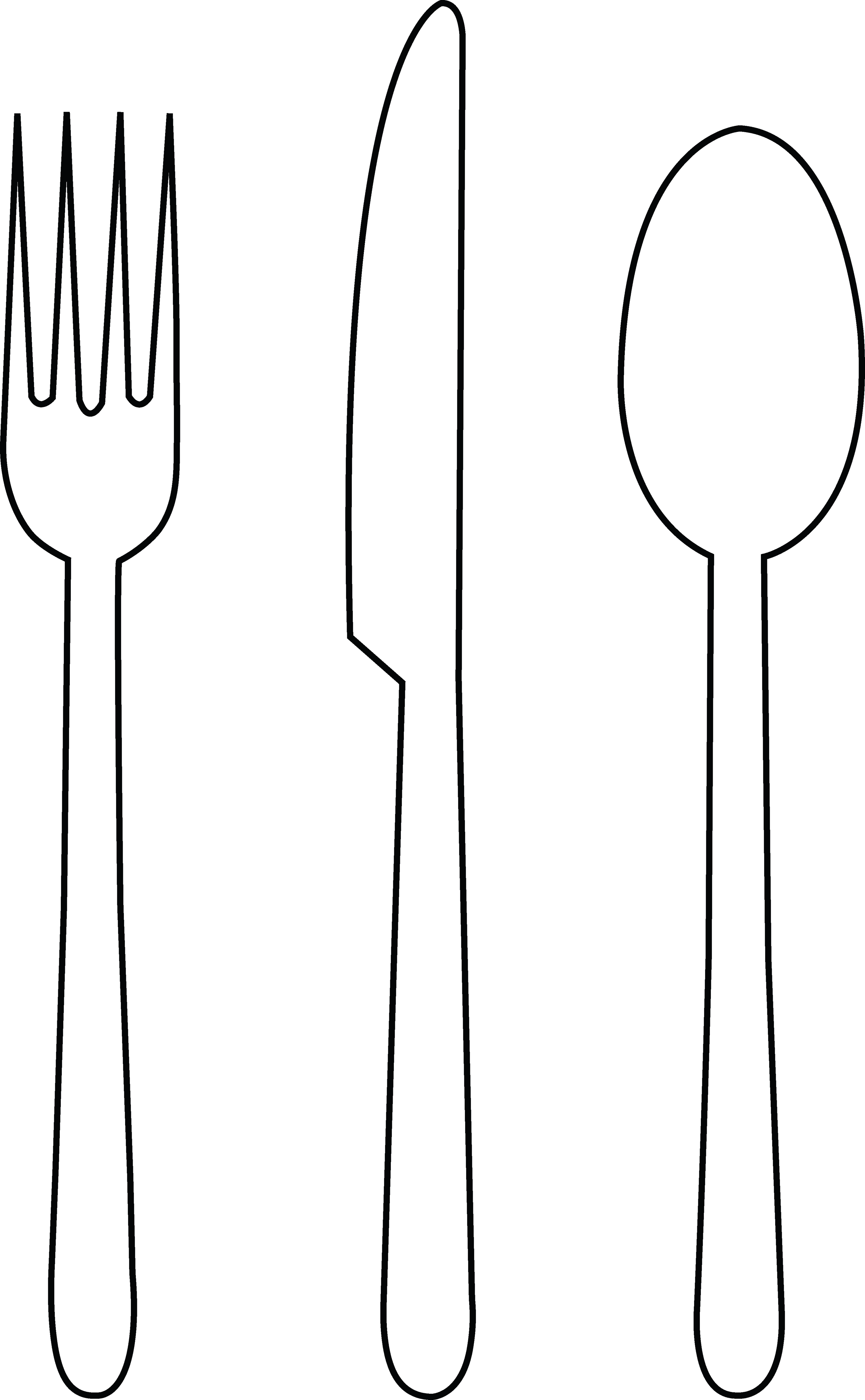 fork clipart drawn