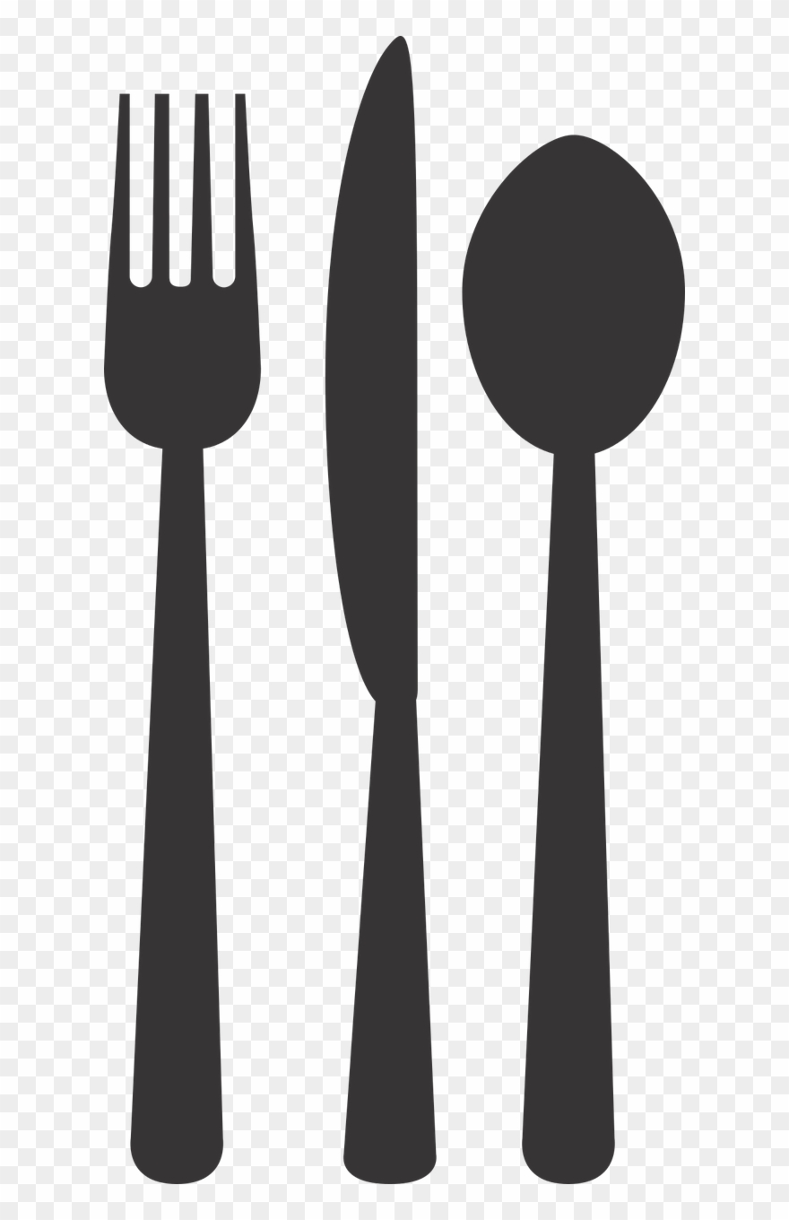 Silverware Plate Fork Spoon Png Image Clipart