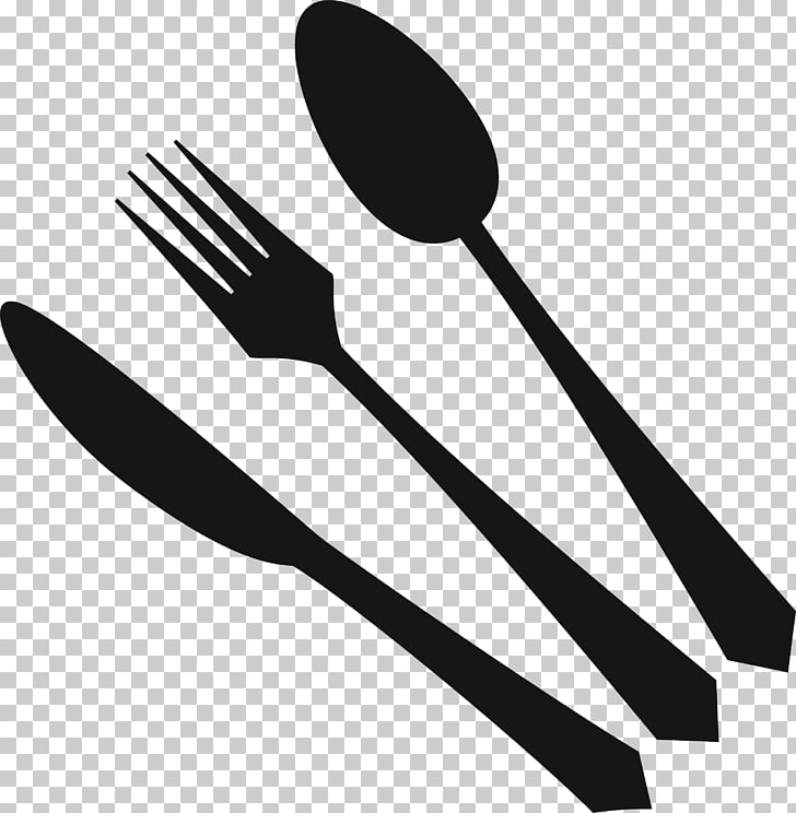 Fork clipart simple. Knife spoon black and