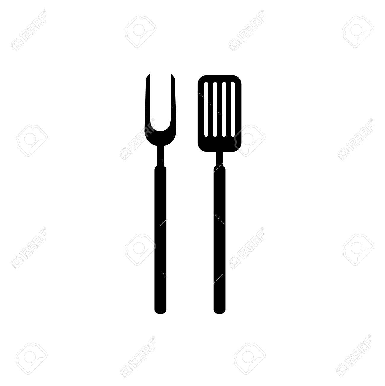 Fork clipart simple. Fork clipart simple. Bbq barbeque tools black