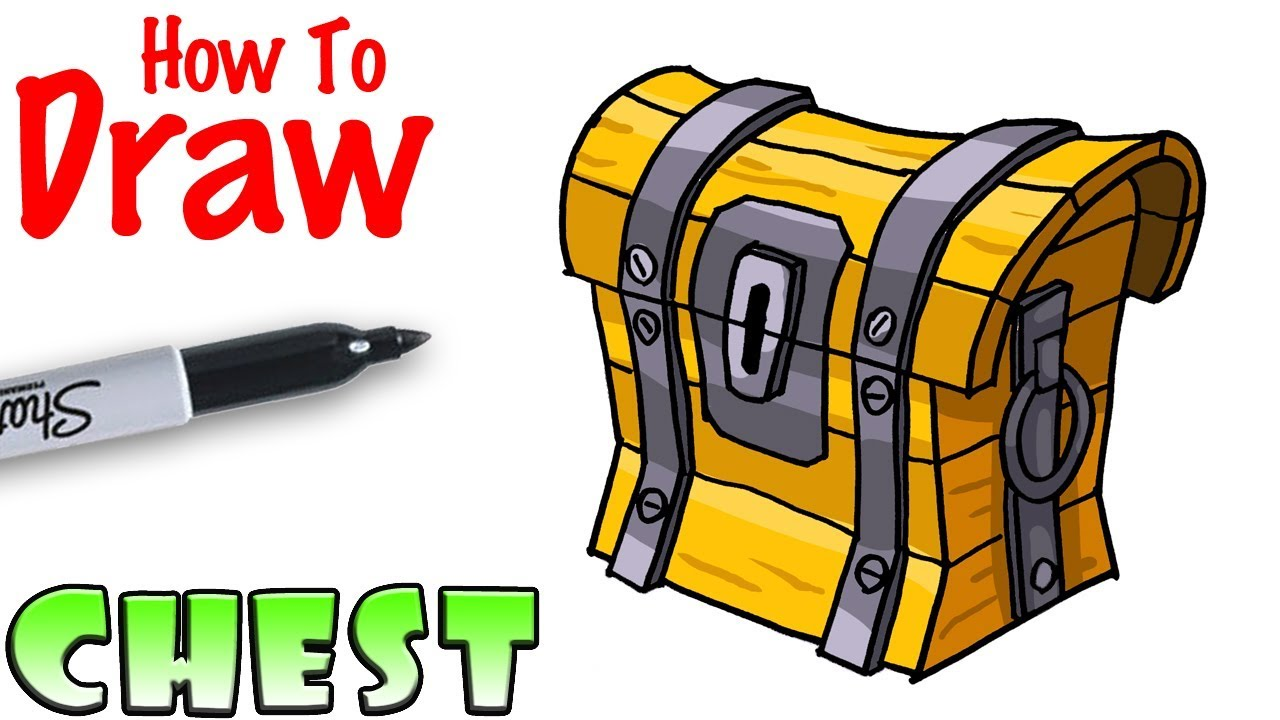Fortnite clipart chest. How to draw the