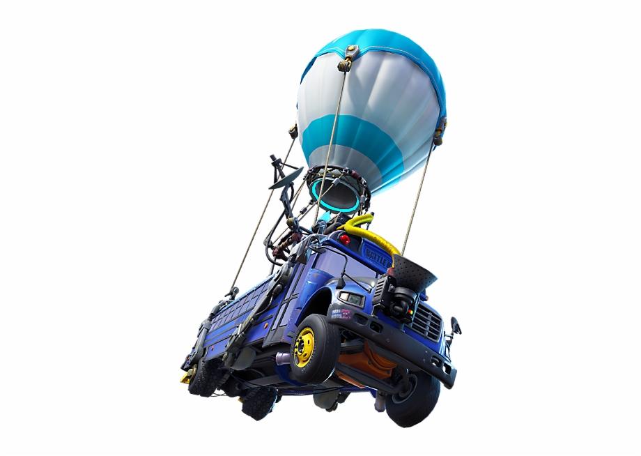 Fortnite clipart parachute. Battle bus png transparent