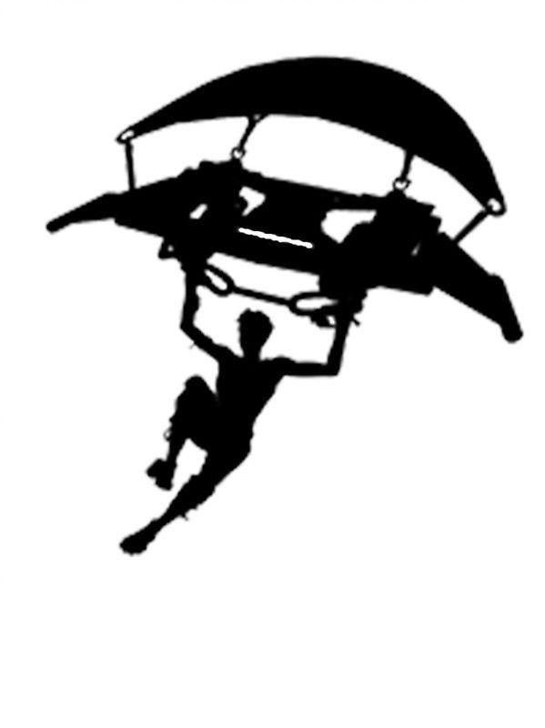Fortnite clipart parachute. Emote vinyl decal sticker