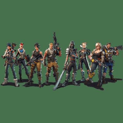 Fortnite characters transparent.