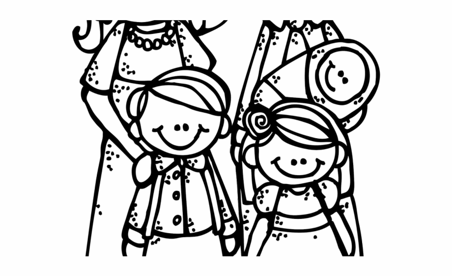 Family Clipart Black And White