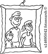 frame clipart black and white family