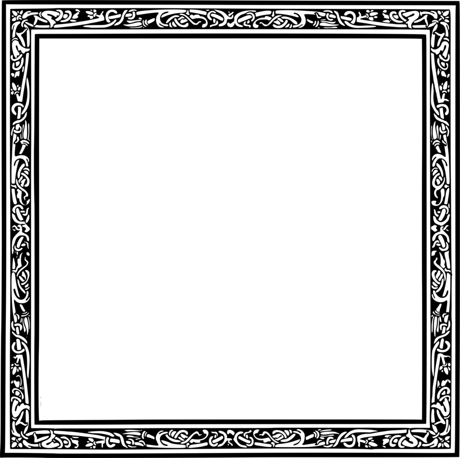 Black And White Frame clipart