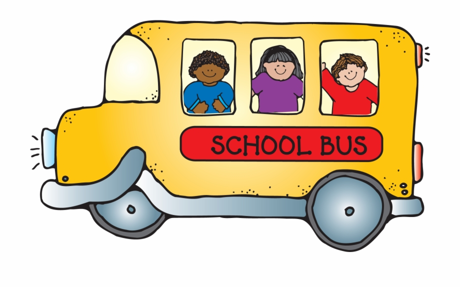 School Bus With Children Png Clipart