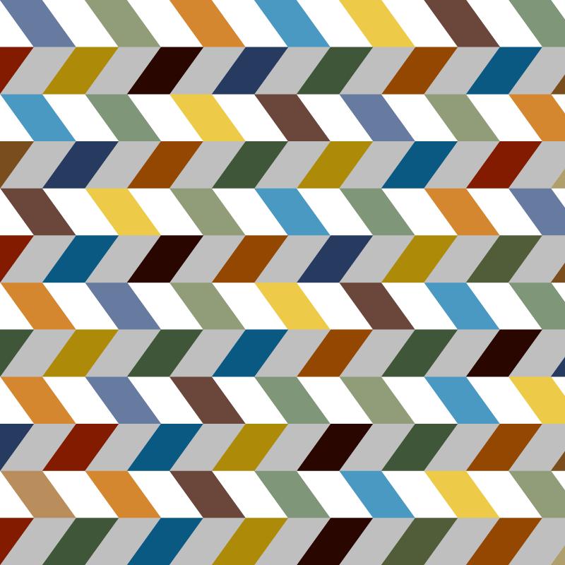 Colorful zigzag chevron.