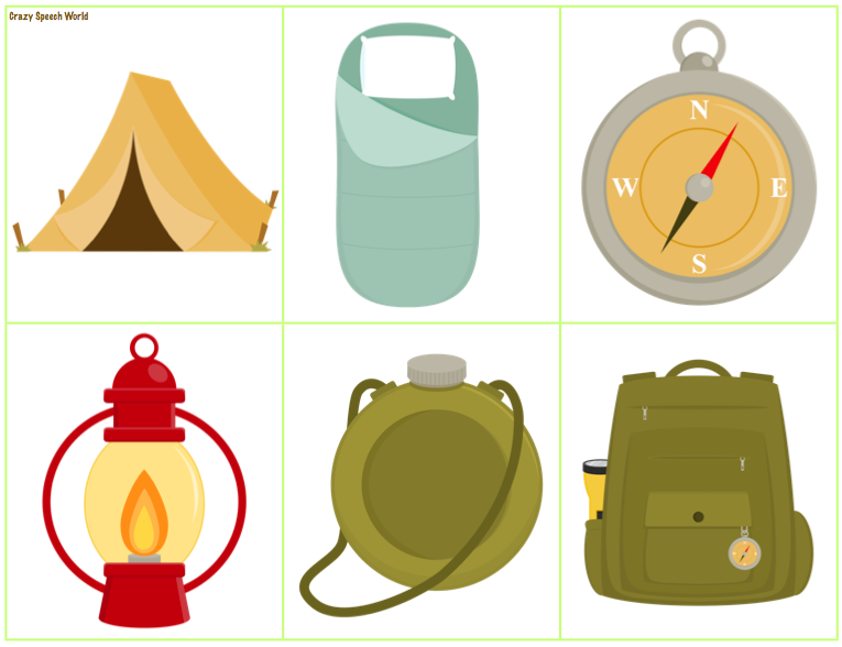 clipart pack camping gear