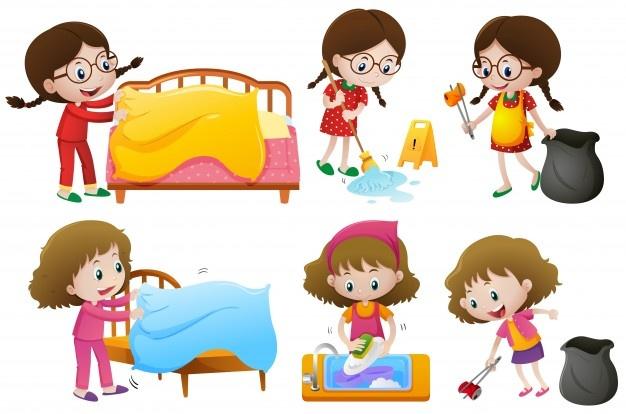 Chores vectors photos.