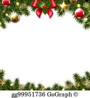 Christmas border clip.