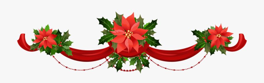 Transparent christmas garland.