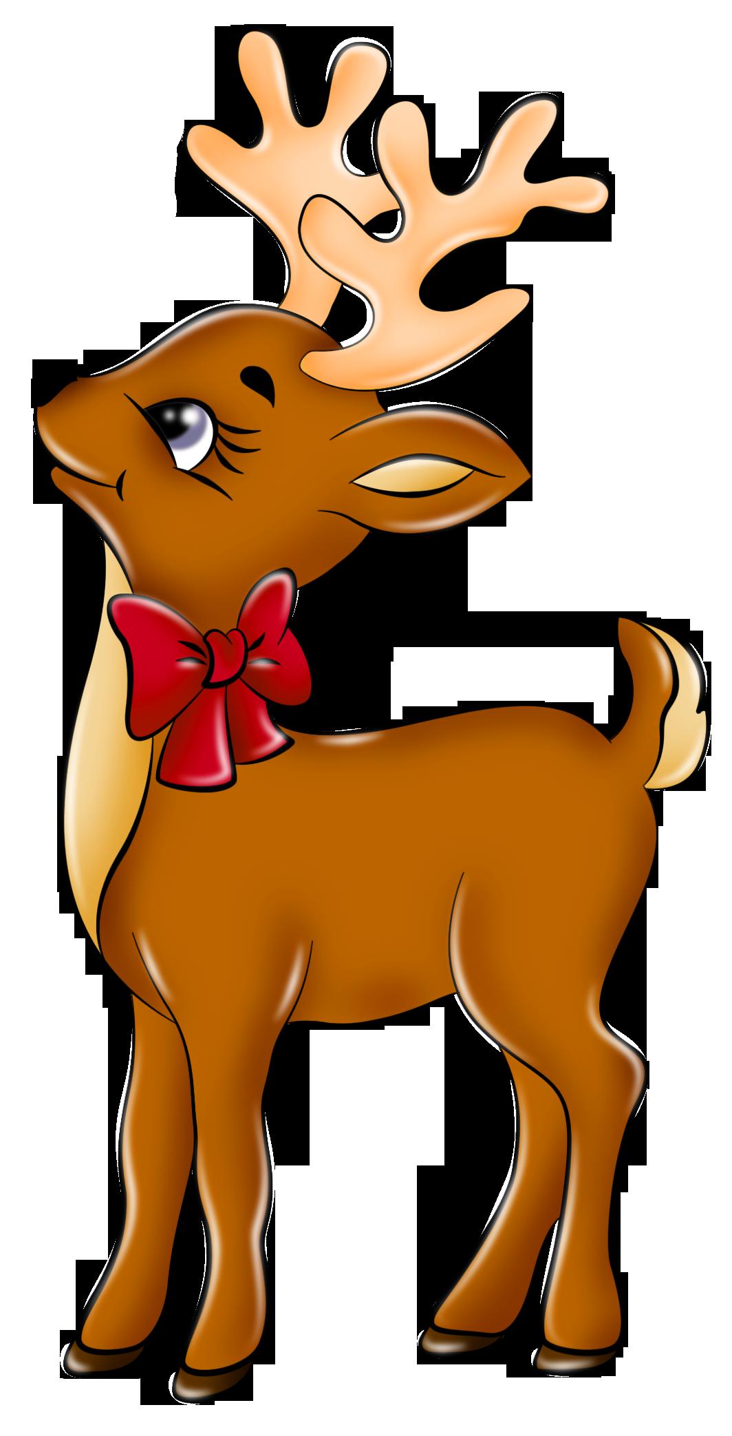 Cute reindeer clip.