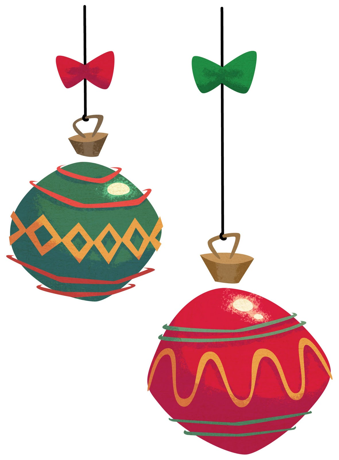 christmas ornament clipart retro