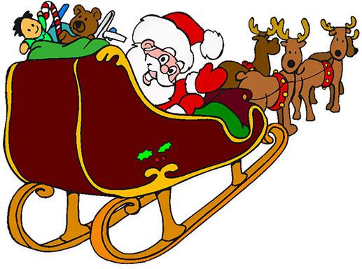 Santa rudolph sleigh.