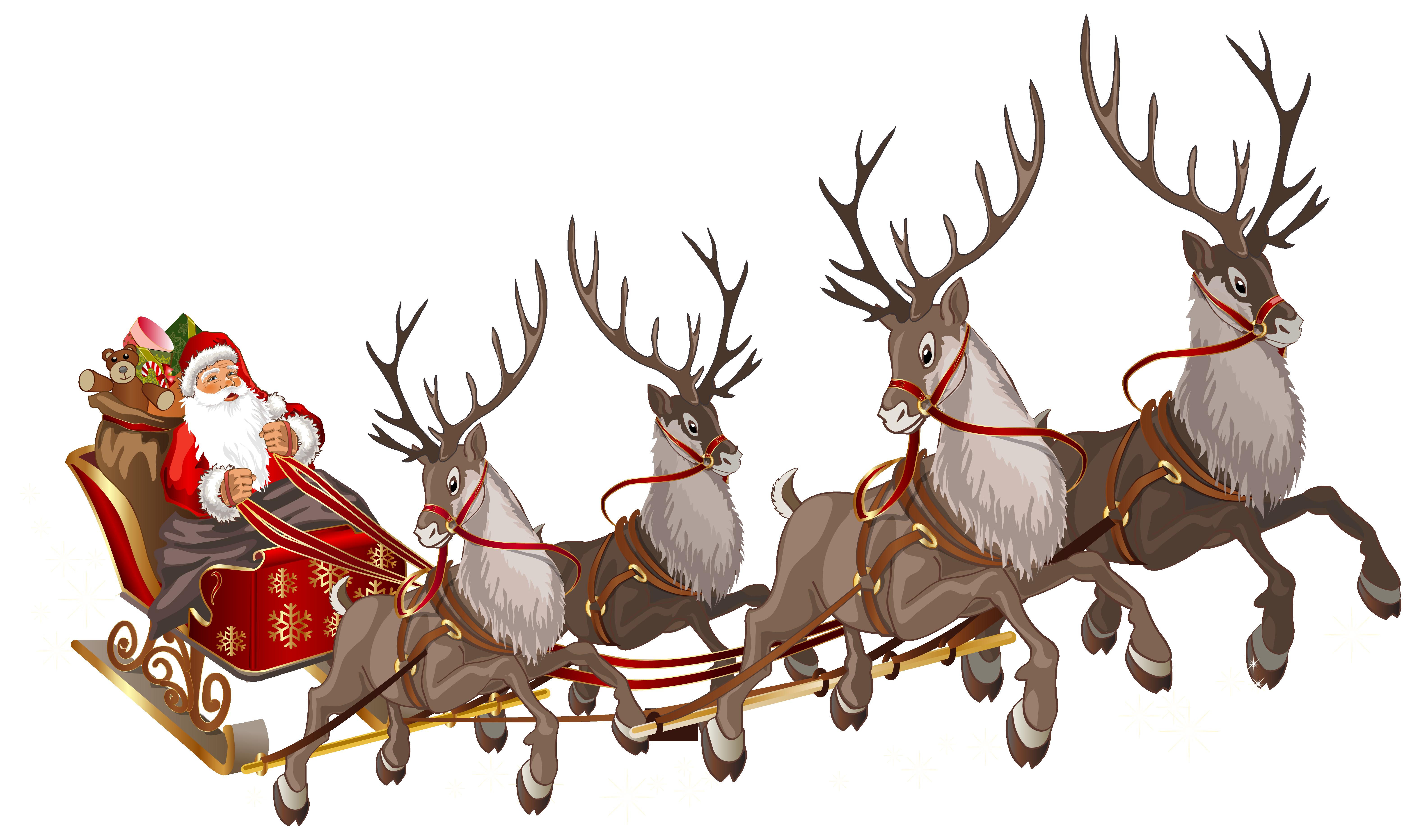 santa claus clipart sleigh