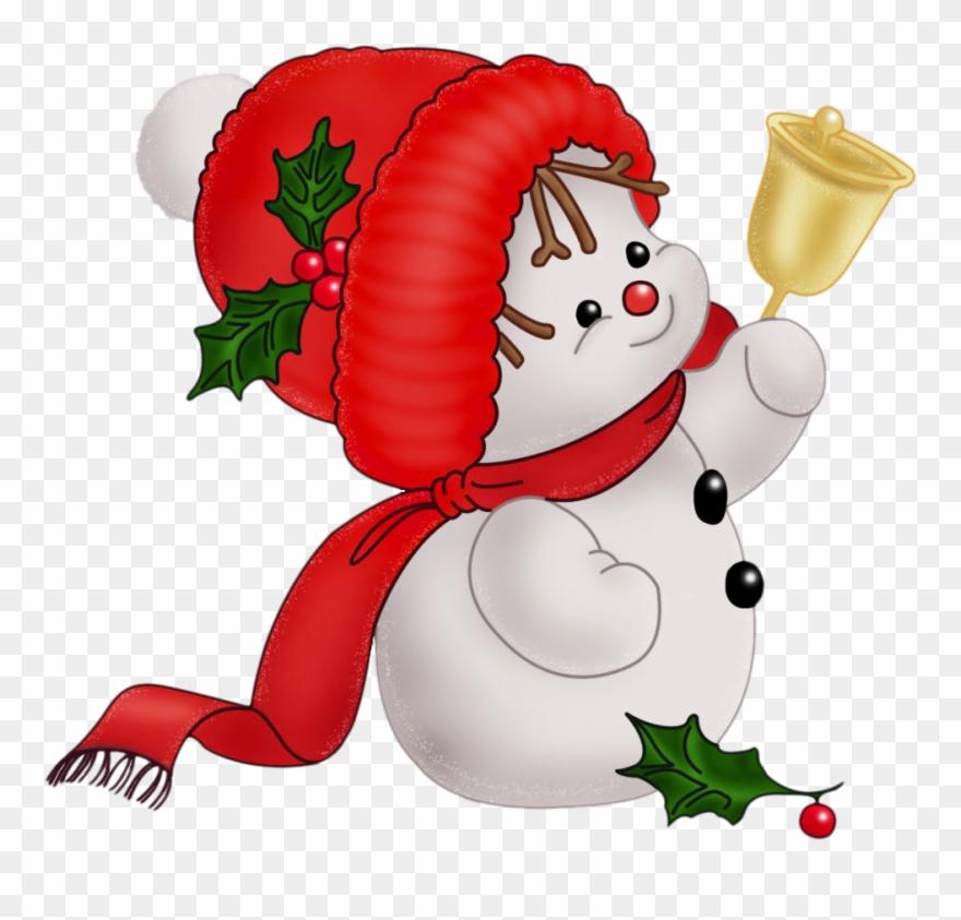 Christmas snowman clip.