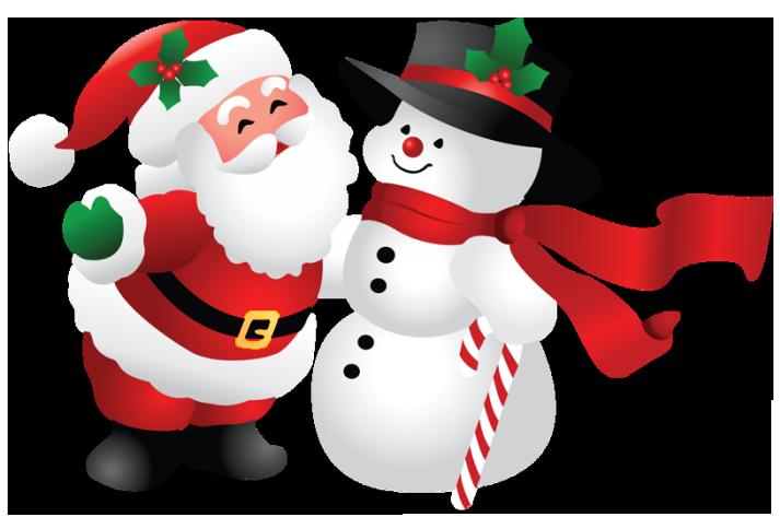 Christmas santa and.
