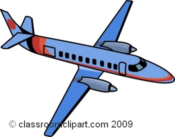 Airplane clipart background.