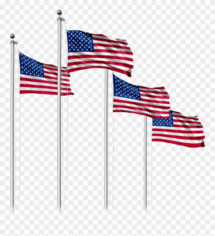 American Flag Pole Png