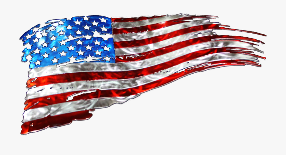 Svg Free Library Tattered American Flag
