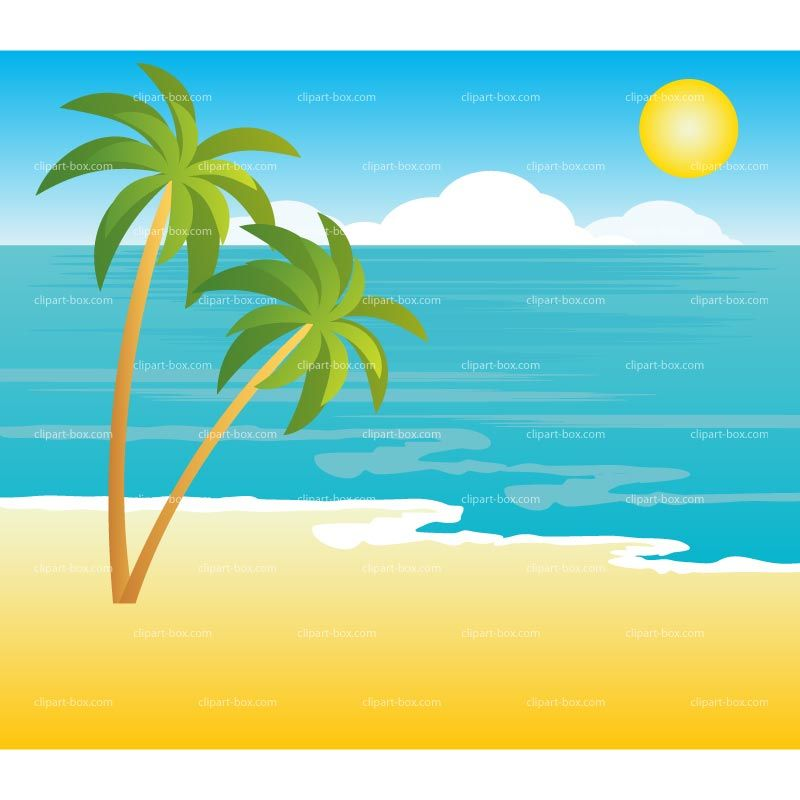 Beach clipart tropical.