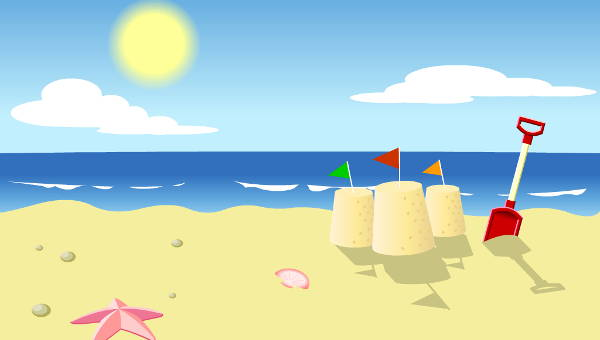 10 beach cliparts.