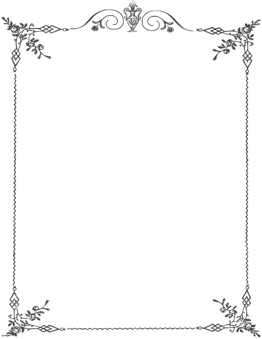 Elegant page borders.