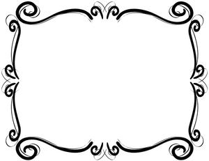 Scrollwork frames borders.