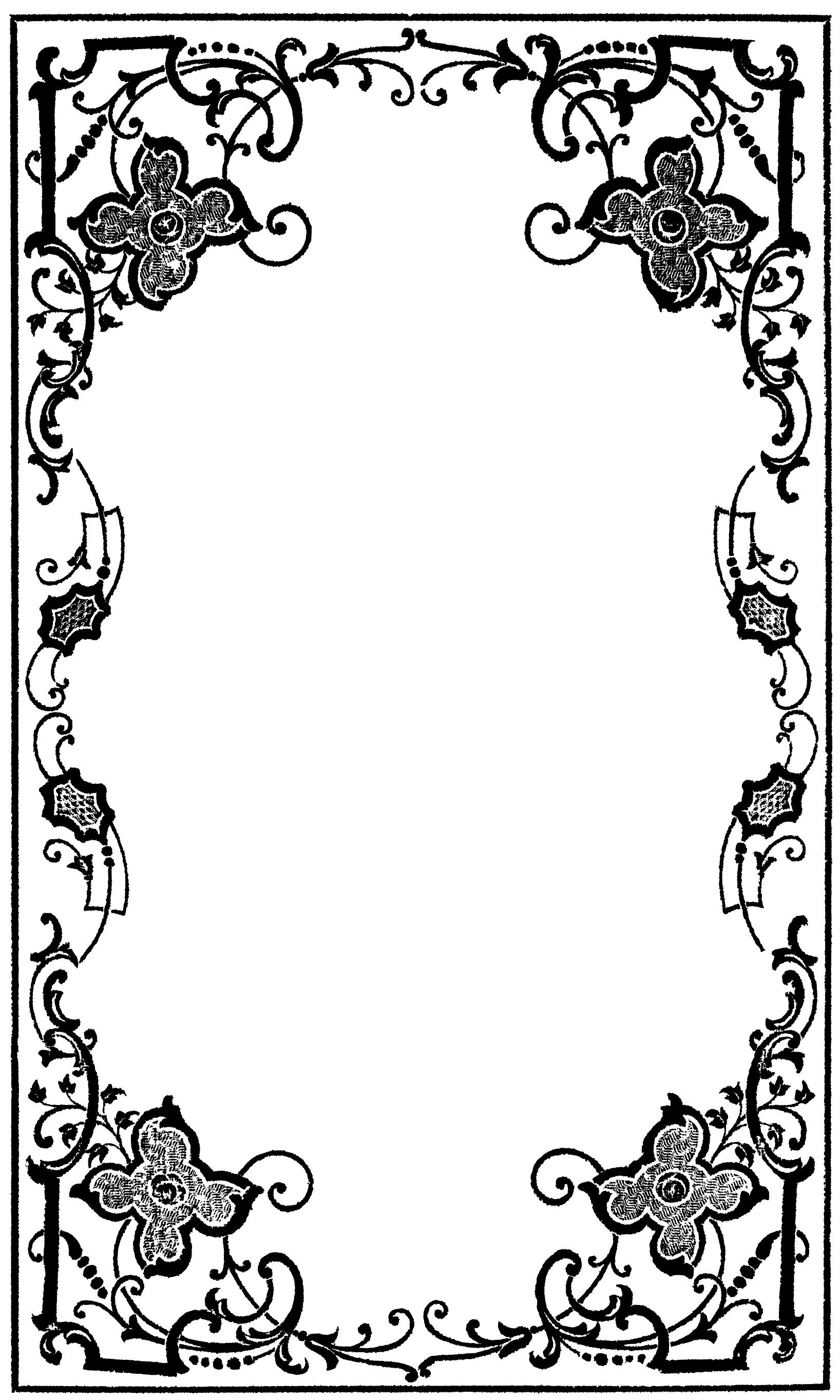 Free victorian frame.