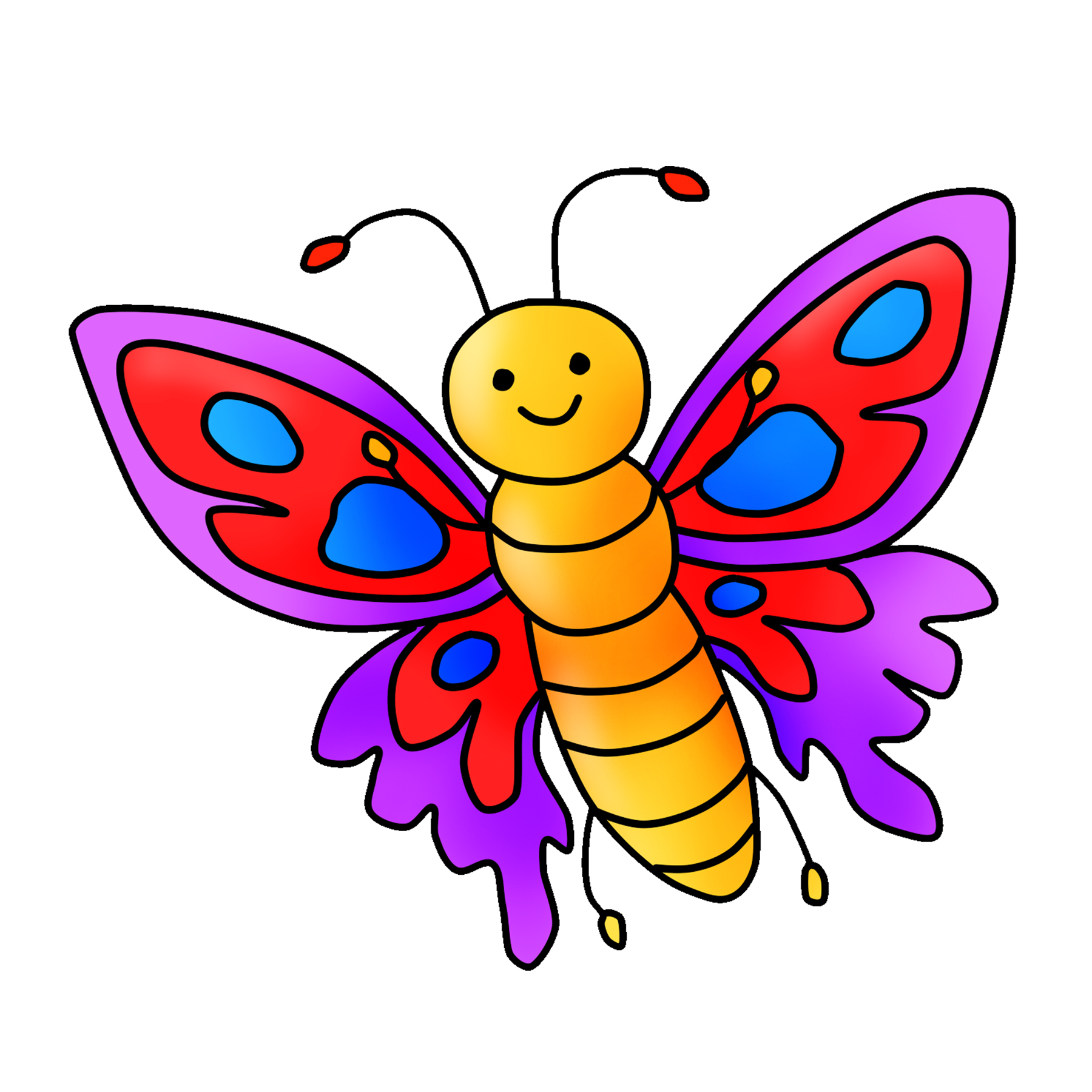 Free Butterfly Clipart Digital Graphic Download