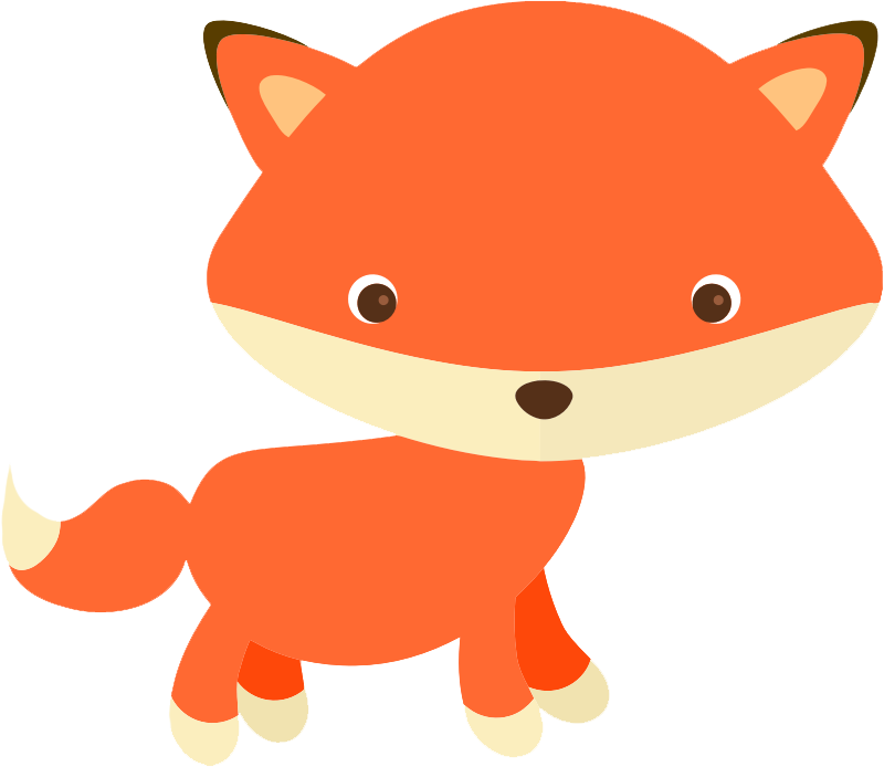Cute fox free clipart