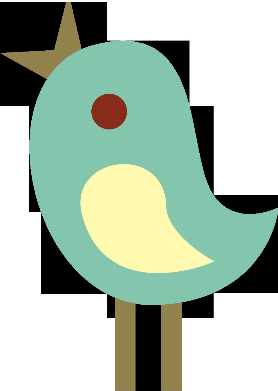 Cute tweet birds clip art