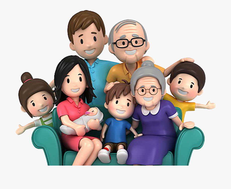 Family cartoon wallpaper.