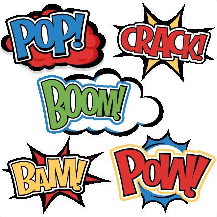 Superhero words svg.