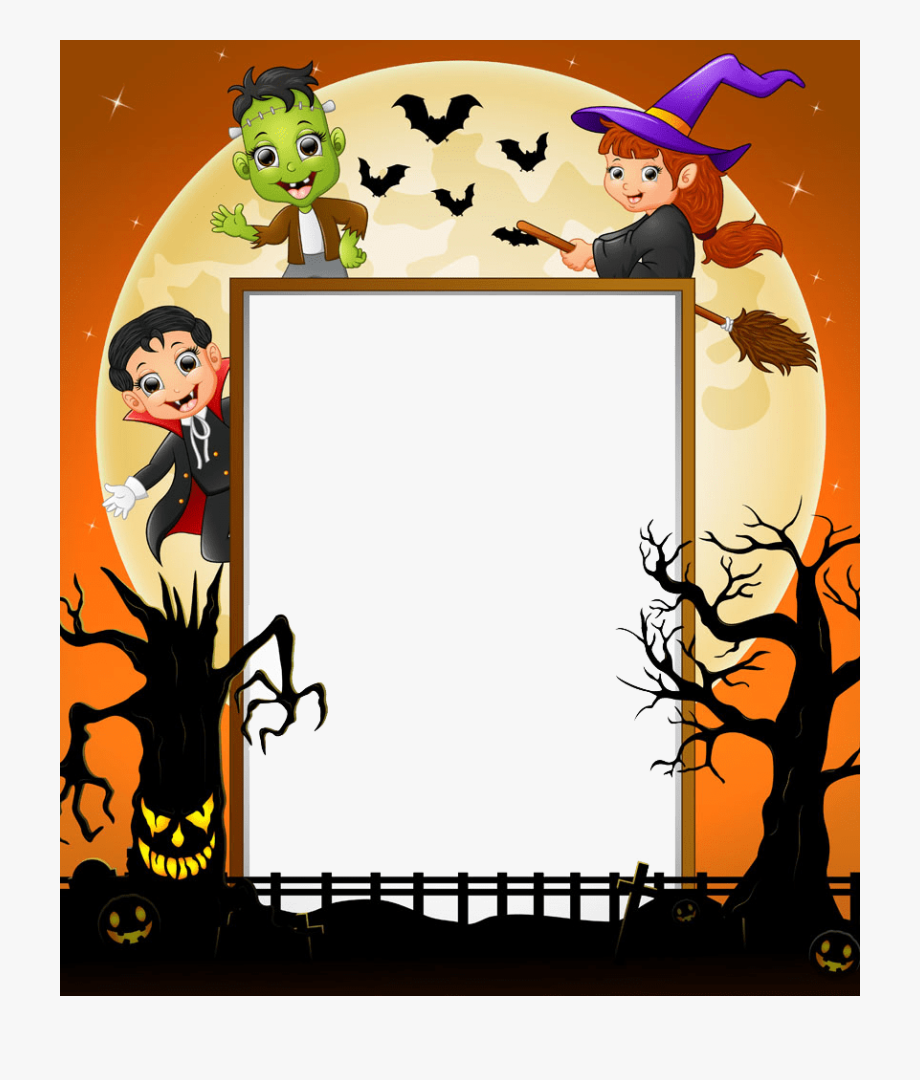 Halloween border frame.
