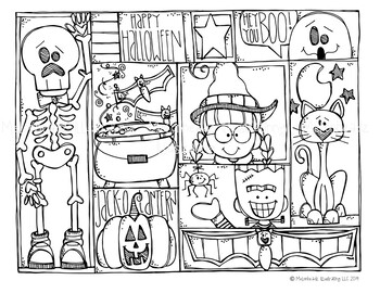 Halloween clipart black and white melonheadz pictures on ...