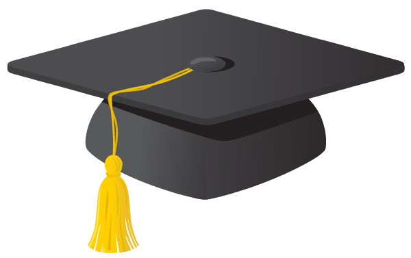 Graduation cap glitter
