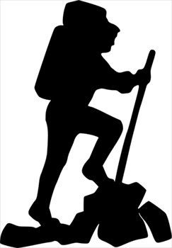 Free hikersilhouette clipart.