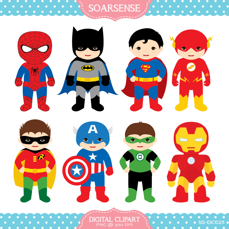 Free superhero cliparts.