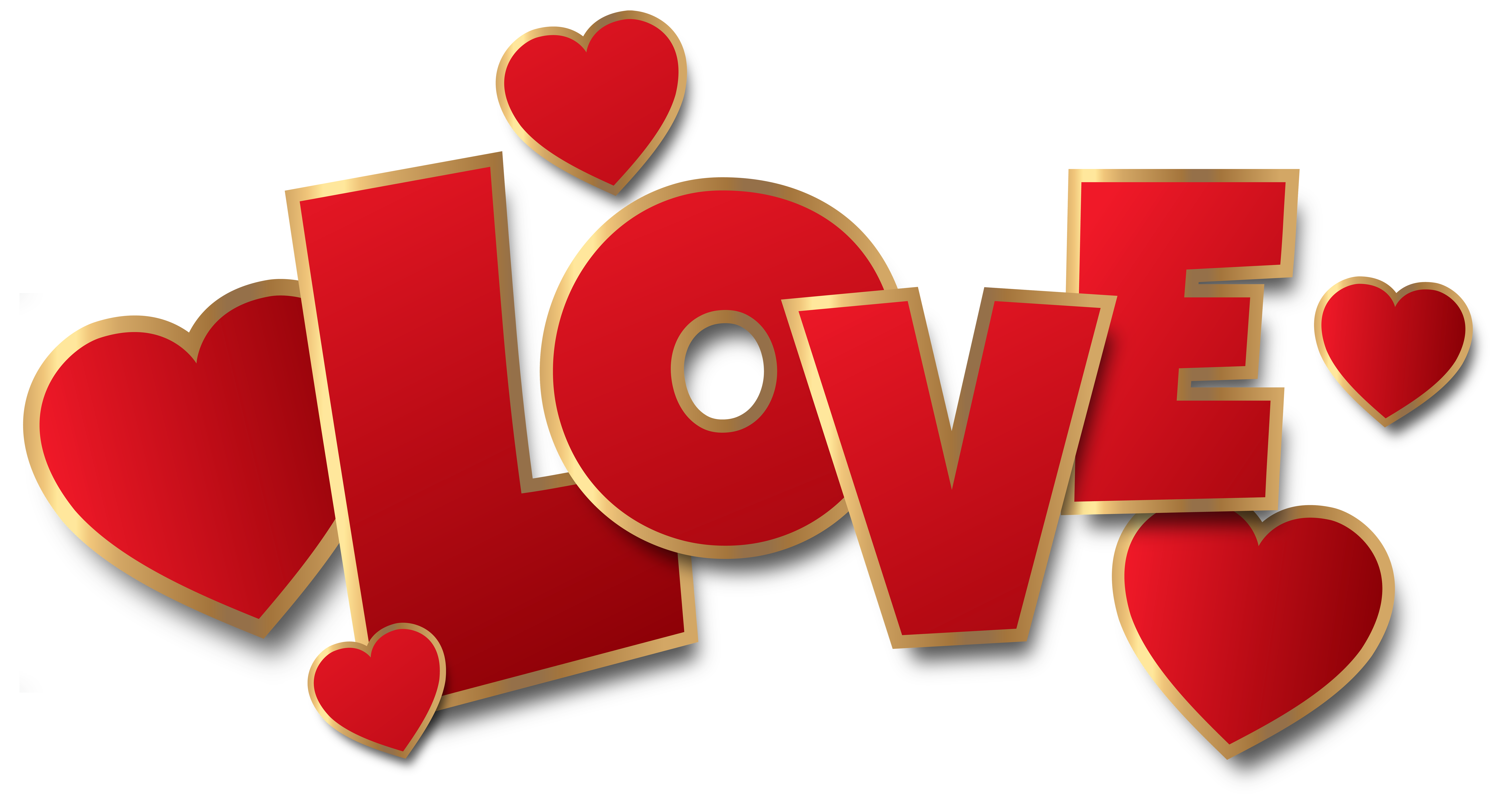 Red Love Transparent PNG Clip Art Image