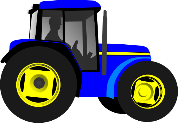 Blue Tractor Clip Art Pictures