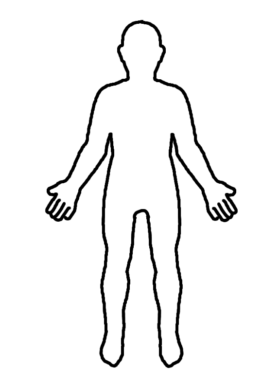 body outline clipart human
