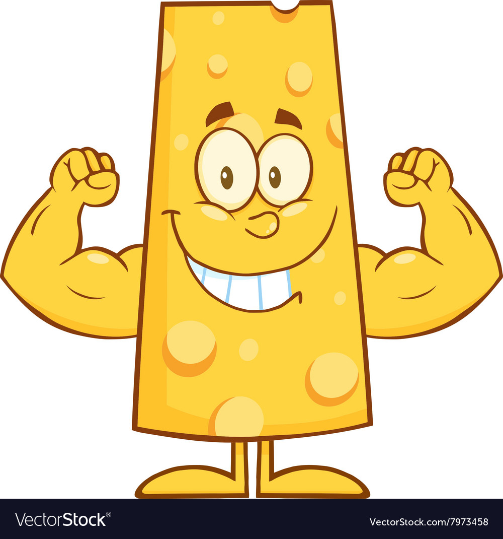 Royalty Free RF Clipart Smiling Cheese Cartoon